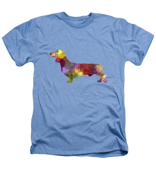 Dachshund In Watercolor Heathers T-Shirt by Pablo Romero