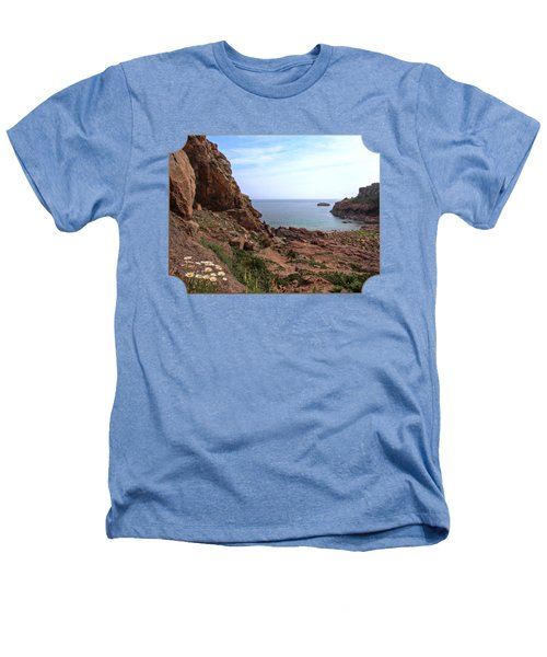 Daisies In The Granite Rocks At Corbiere Heathers T-Shirt by Gill Billington