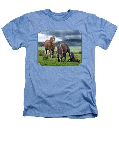 Dartmoor Ponies Heathers T-Shirt by Gill Billington