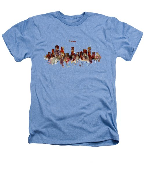 Denver Skyline Silhouette Heathers T-Shirt by Marian Voicu