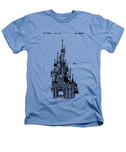 Disneyland Castle Patent Art Heathers T-Shirt by Safran Fine Art
