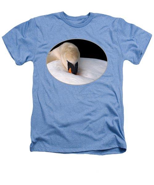 Do Not Disturb - Swan On Nest Heathers T-Shirt by Gill Billington