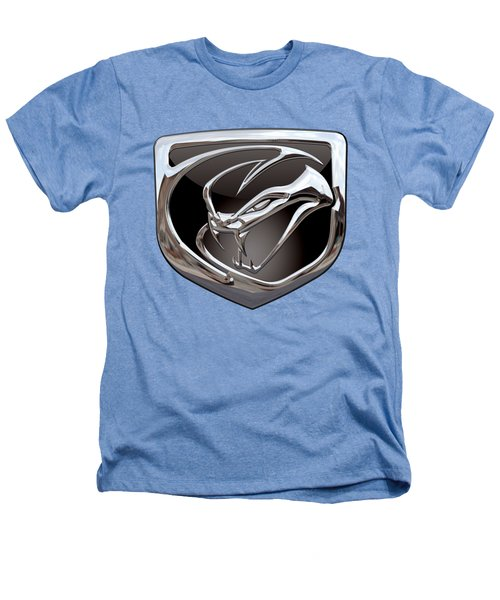 Dodge Viper 3 D  Badge Special Edition On White Heathers T-Shirt by Serge Averbukh