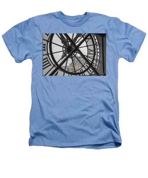D'orsay Clock Paris Heathers T-Shirt by Joan Carroll