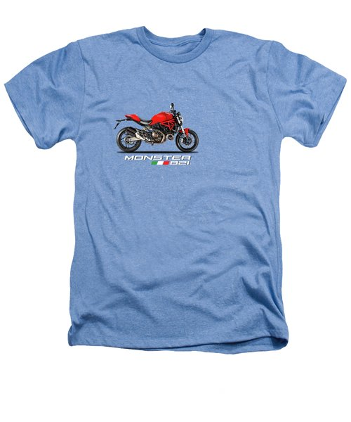 Ducati Monster 821 Heathers T-Shirt by Mark Rogan