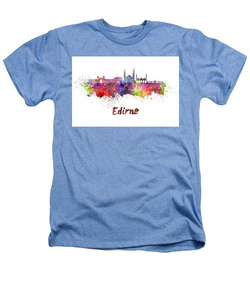 Edirne Skyline In Watercolor Heathers T-Shirt by Pablo Romero