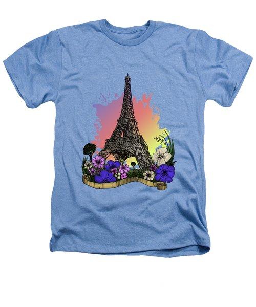 Eiffel Tower Heathers T-Shirt by Adam Santana