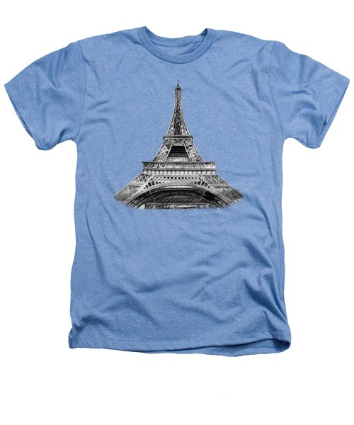 Eiffel Tower Design Heathers T-Shirt by Irina Sztukowski