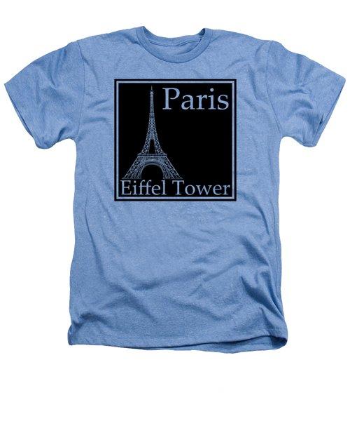 Eiffel Tower In Black Heathers T-Shirt by Custom Home Fashions