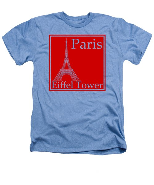 Eiffel Tower In Red Heathers T-Shirt by Custom Home Fashions