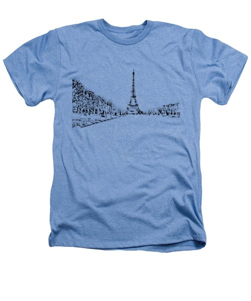 Eiffel Tower Heathers T-Shirt by ISAW Gallery