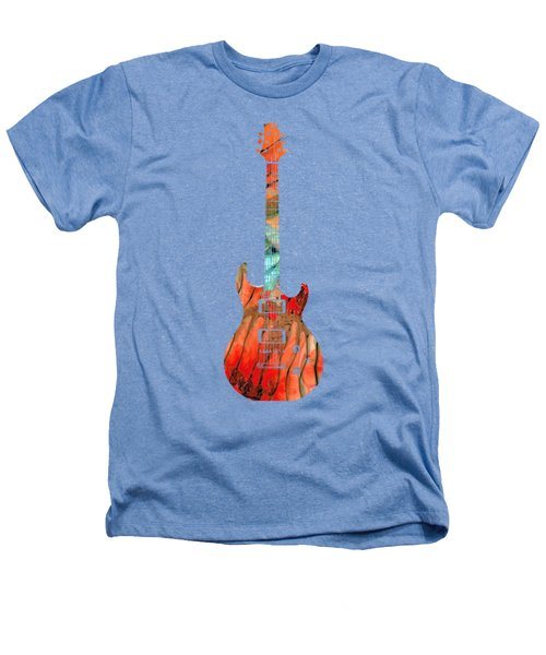 Electric Guitar 2 - Buy Colorful Abstract Musical Instrument Heathers T-Shirt by Sharon Cummings