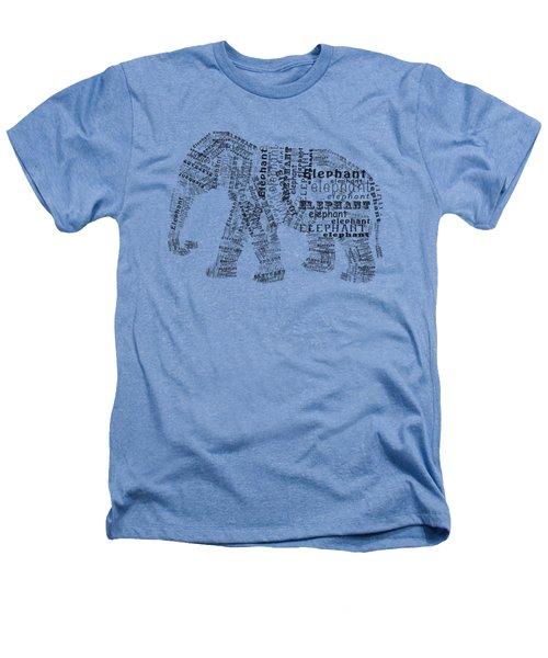 Elefont Noir Heathers T-Shirt by Heather Applegate