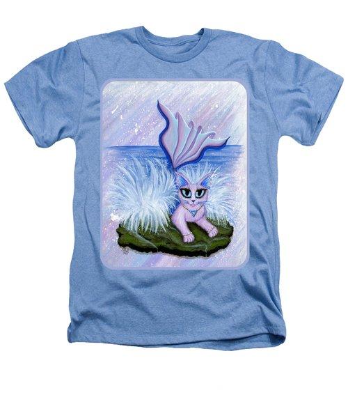 Elemental Water Mermaid Cat Heathers T-Shirt by Carrie Hawks