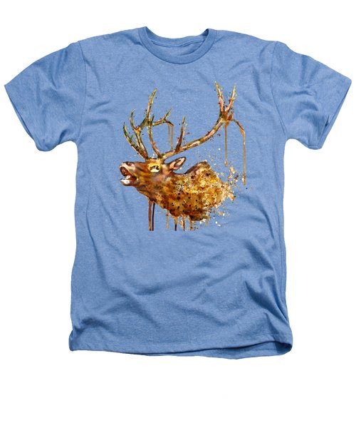 Elk In Watercolor Heathers T-Shirt by Marian Voicu