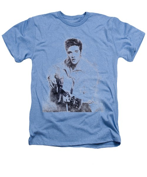 Elvis Presley Portrait 01 Heathers T-Shirt by Pablo Romero