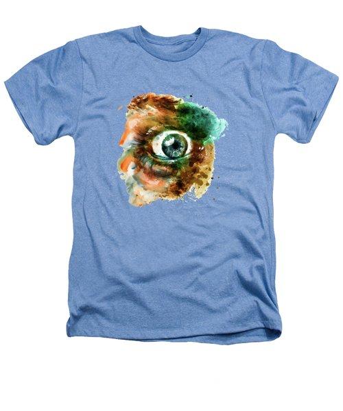 Fear Eye Watercolor Heathers T-Shirt by Marian Voicu