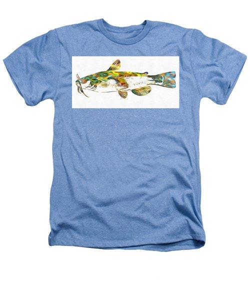 Fish Art Catfish Heathers T-Shirt by Dan Sproul