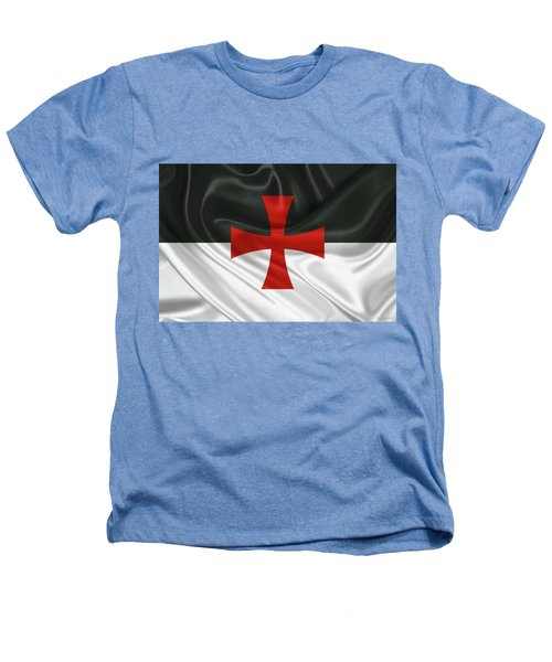 Flag Of The Knights Templar Heathers T-Shirt by Serge Averbukh