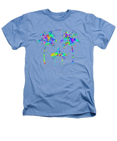 Flamingos In Love - Splatter Art Heathers T-Shirt by Shara Lee