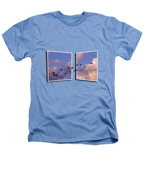 Flying Across Heathers T-Shirt by Roger Wedegis