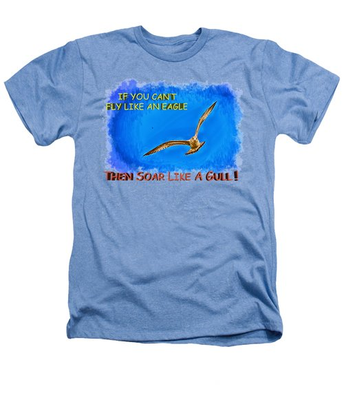 Flying Gull Heathers T-Shirt by John M Bailey
