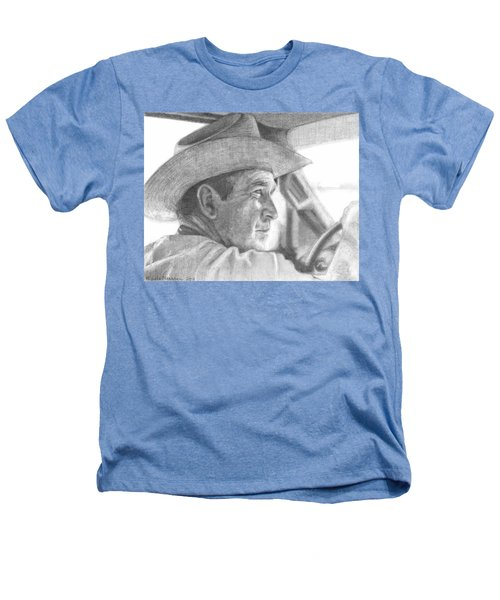 Former Pres. George W. Bush Wearing A Cowboy Hat Heathers T-Shirt by Michelle Flanagan