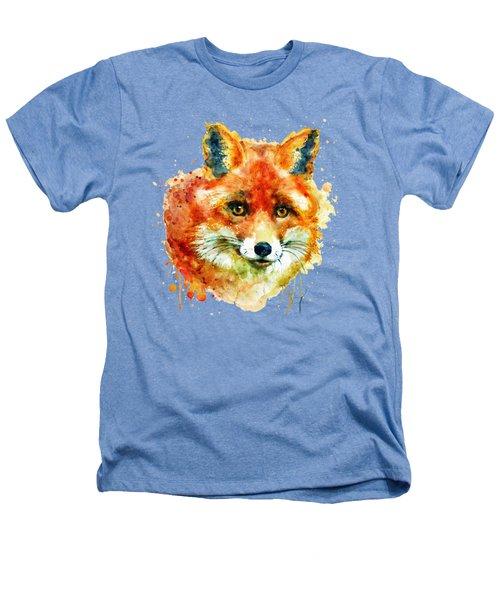 Fox Head Heathers T-Shirt by Marian Voicu