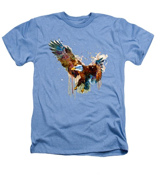 Free And Deadly Eagle Heathers T-Shirt by Marian Voicu