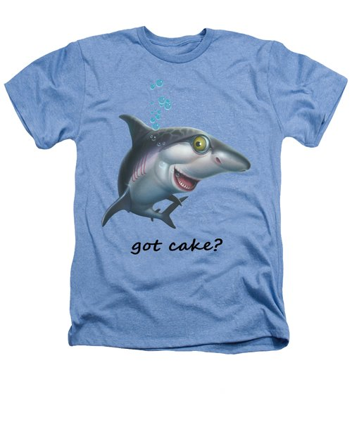 friendly Shark Cartoony cartoon under sea ocean underwater scene art print Heathers T-Shirt by Walt Curlee