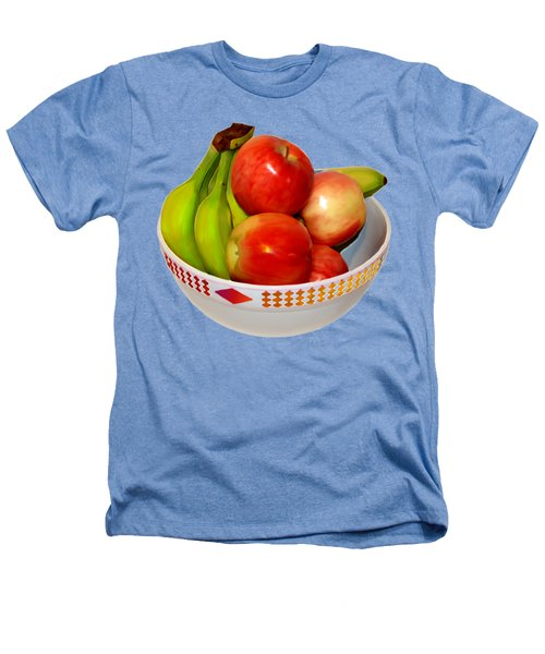 Fruit Bowl Still Life Heathers T-Shirt by William Galloway