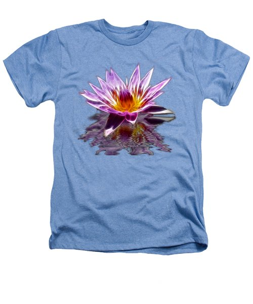 Glowing Lilly Flower Heathers T-Shirt by Shane Bechler