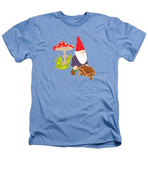 Gnome Garden Heathers T-Shirt by Priscilla Wolfe