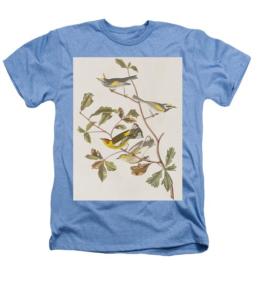 Golden Winged Warbler Or Cape May Warbler Heathers T-Shirt by John James Audubon