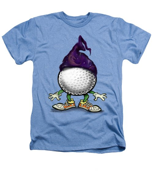 Golf Wizard Heathers T-Shirt by Kevin Middleton