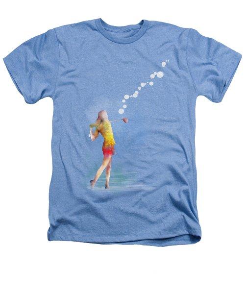 Golfer Heathers T-Shirt by Marlene Watson