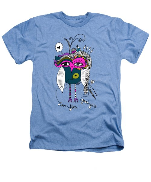 Goodnight Owl Heathers T-Shirt by Tara Griffin