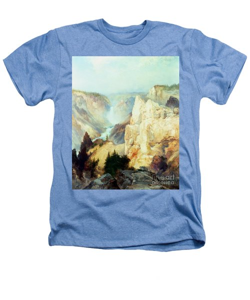 Grand Canyon Of The Yellowstone Park Heathers T-Shirt by Thomas Moran