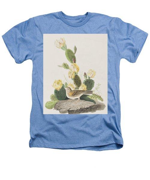 Grass Finch Or Bay Winged Bunting Heathers T-Shirt by John James Audubon