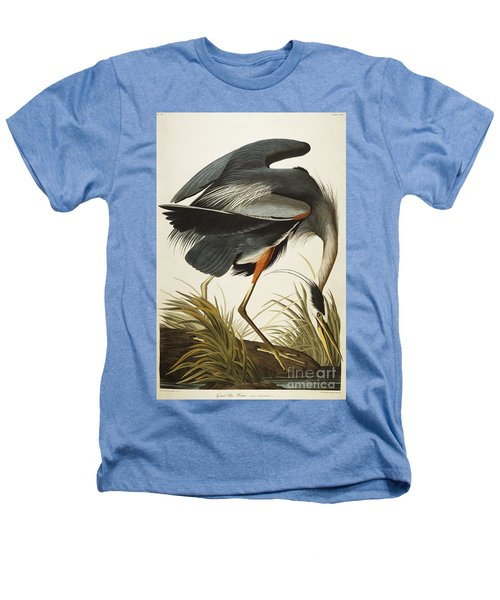Great Blue Heron Heathers T-Shirt by John James Audubon