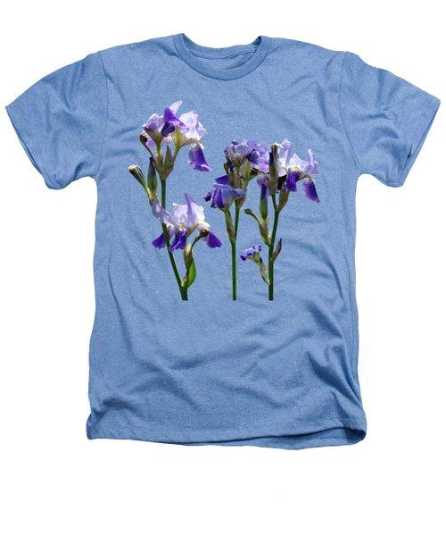 Group Of Purple Irises Heathers T-Shirt by Susan Savad