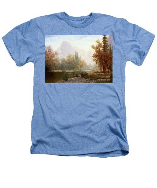 Half Dome Yosemite Heathers T-Shirt by Albert Bierstadt