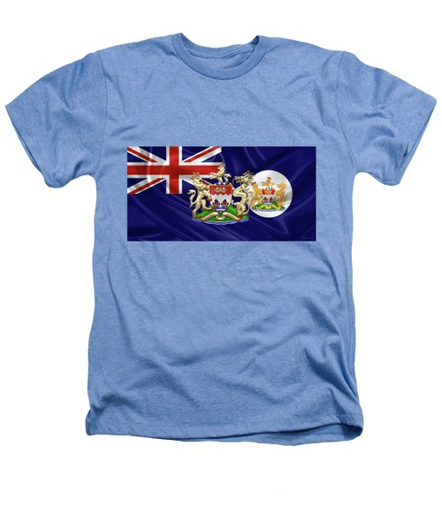 Hong Kong - 1959-1997 Historical Coat Of Arms Over British Hong Kong Flag  Heathers T-Shirt by Serge Averbukh