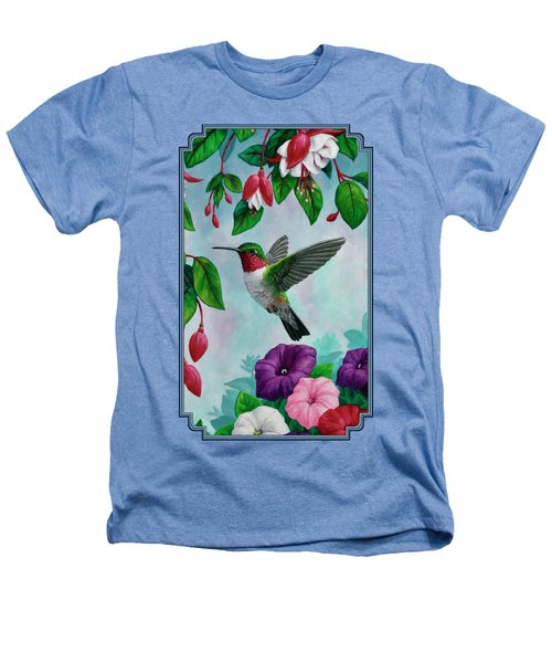 Hummingbird Greeting Card 1 Heathers T-Shirt by Crista Forest
