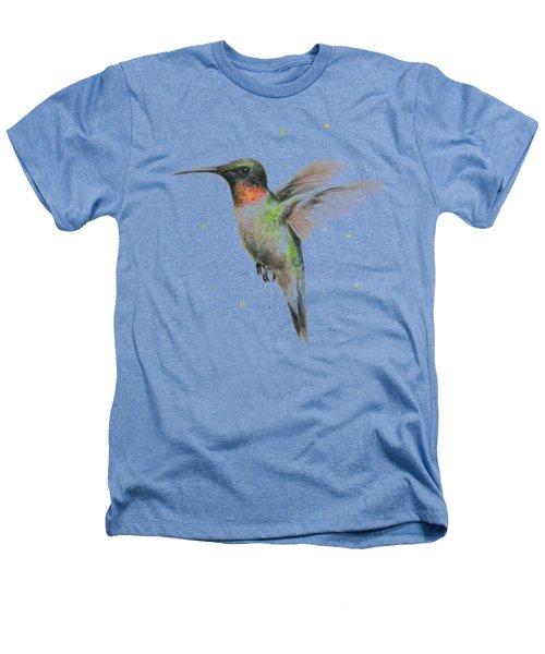 Hummingbird Heathers T-Shirt by Olga Shvartsur