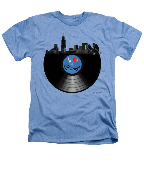 I Love Chicago Heathers T-Shirt by Glenn Holbrook
