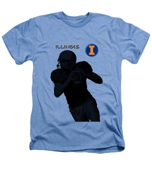Illinois Football Heathers T-Shirt by David Dehner