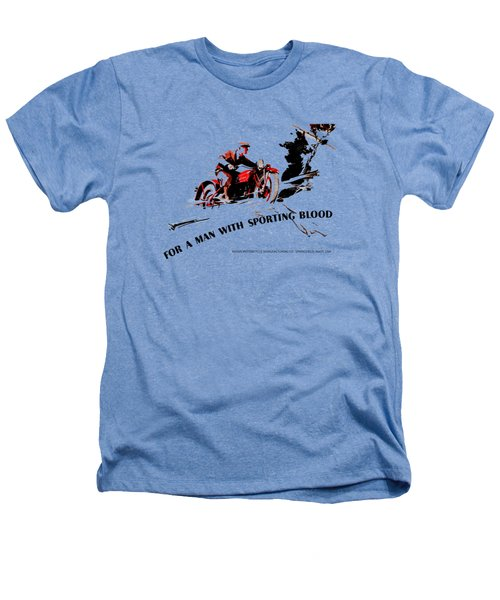 Indian Motorcycle - Sporting Blood 1930 Heathers T-Shirt by Mark Rogan