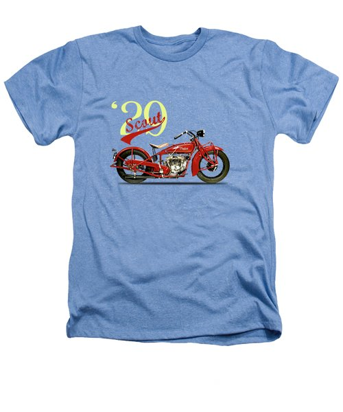 Indian Scout 101 1929 Heathers T-Shirt by Mark Rogan