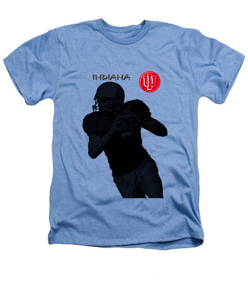Indiana Football Heathers T-Shirt by David Dehner